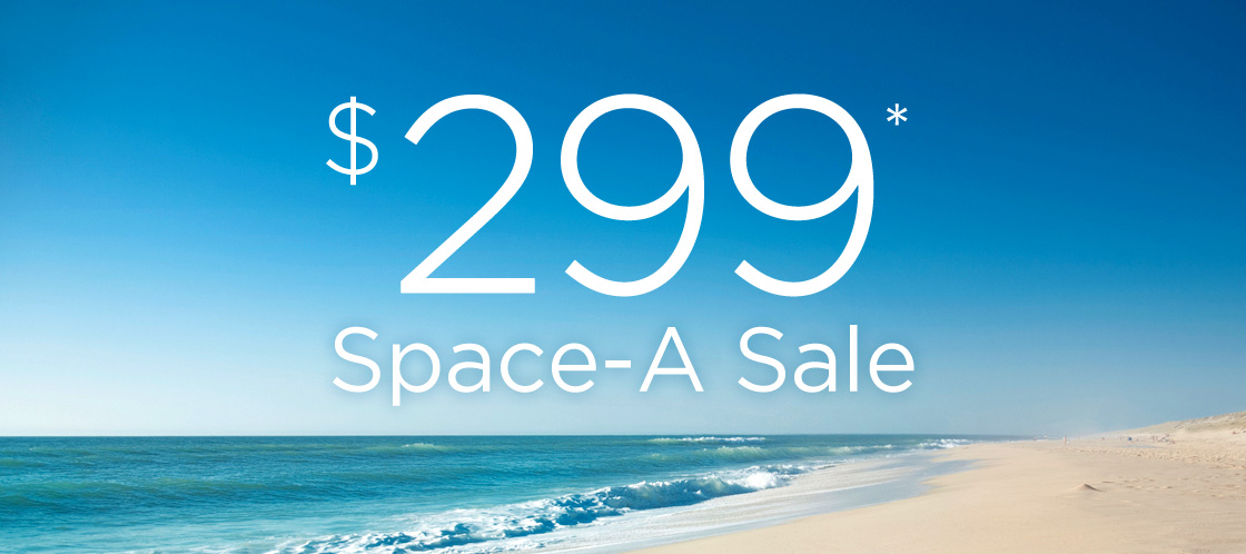 Select Space-A Vacations Just $299* Per Week!